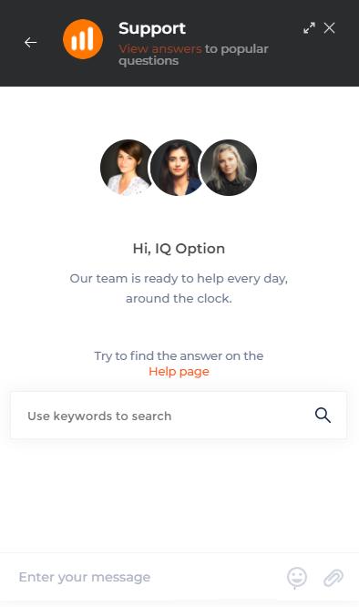 Cách liên hệ với bộ phận hỗ trợ IQ Option